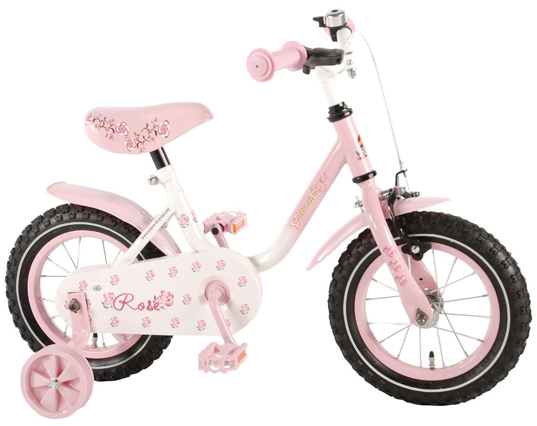 12 Zoll Kinderfahrrad Fahrrad Mädchenfahrrad mit Rücktritt Pink Rose 71233 E & L