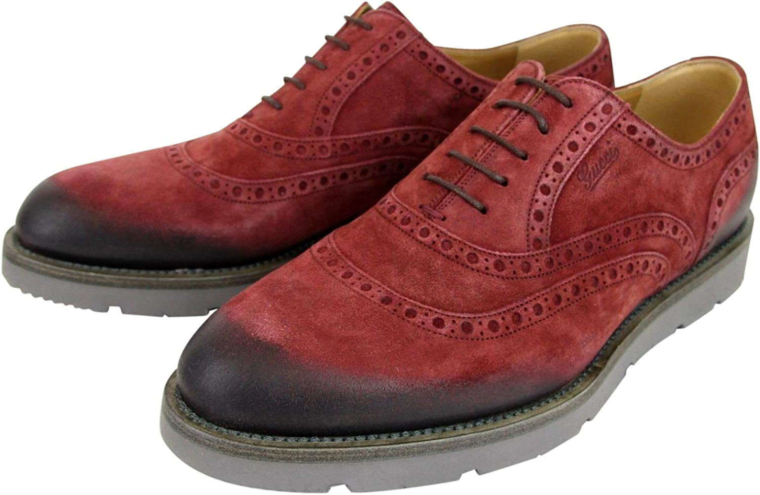 Oxford Red Suede Dress Shoes