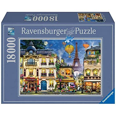 """Ravensburger 17829 Evening Walk in Paris - 18000 Piece Puzzle for Adults, Every Piece is Unique, Softclick Technology Means Pieces Fit Together Perfectly, Multi, 109"""" x 75.5"""": Toys & Games"""