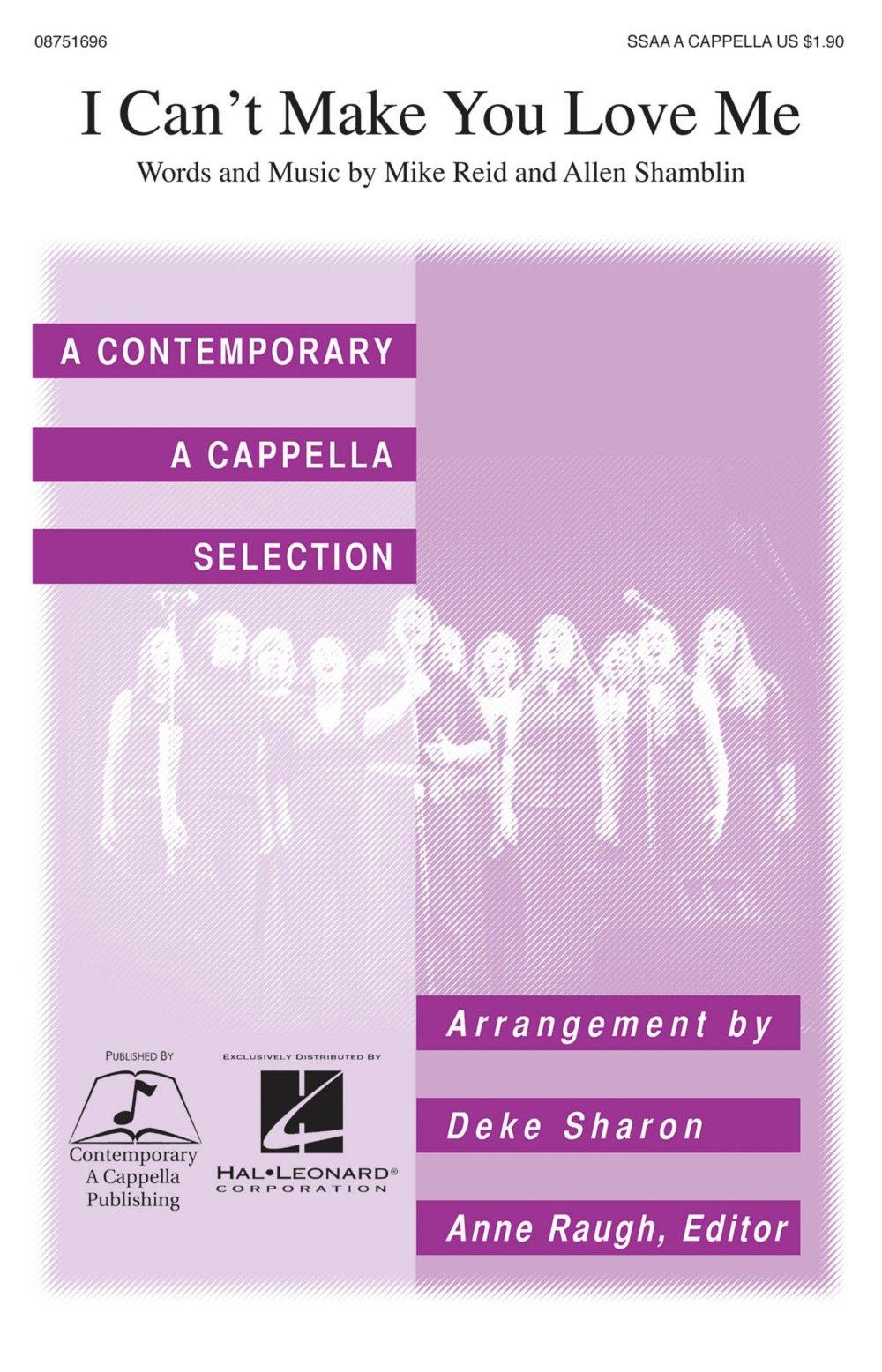 Download Contemporary A Cappella Publishing I Can't Make You Love Me SSAA A Cappella by Bonnie Raitt arranged by Deke Sharon pdf epub