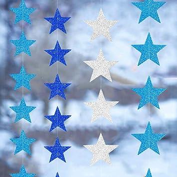 Amazon.com: Guirnalda de estrellas doradas de papel para ...