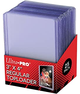 100 Total Gaming ultrapro 25 Toploaders Per Pack 4 Ultra Pro 100pt Top Loaders Football Basketball - Thick Baseball Hockey