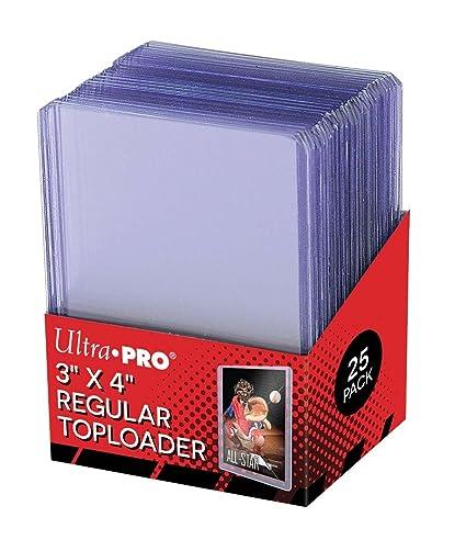 25 Ultra Pro 3 X 4 Top Loader Card Holder For Baseball Football Basketball Hockey Golf Single Sports Cards Top Loads Sportcards Card