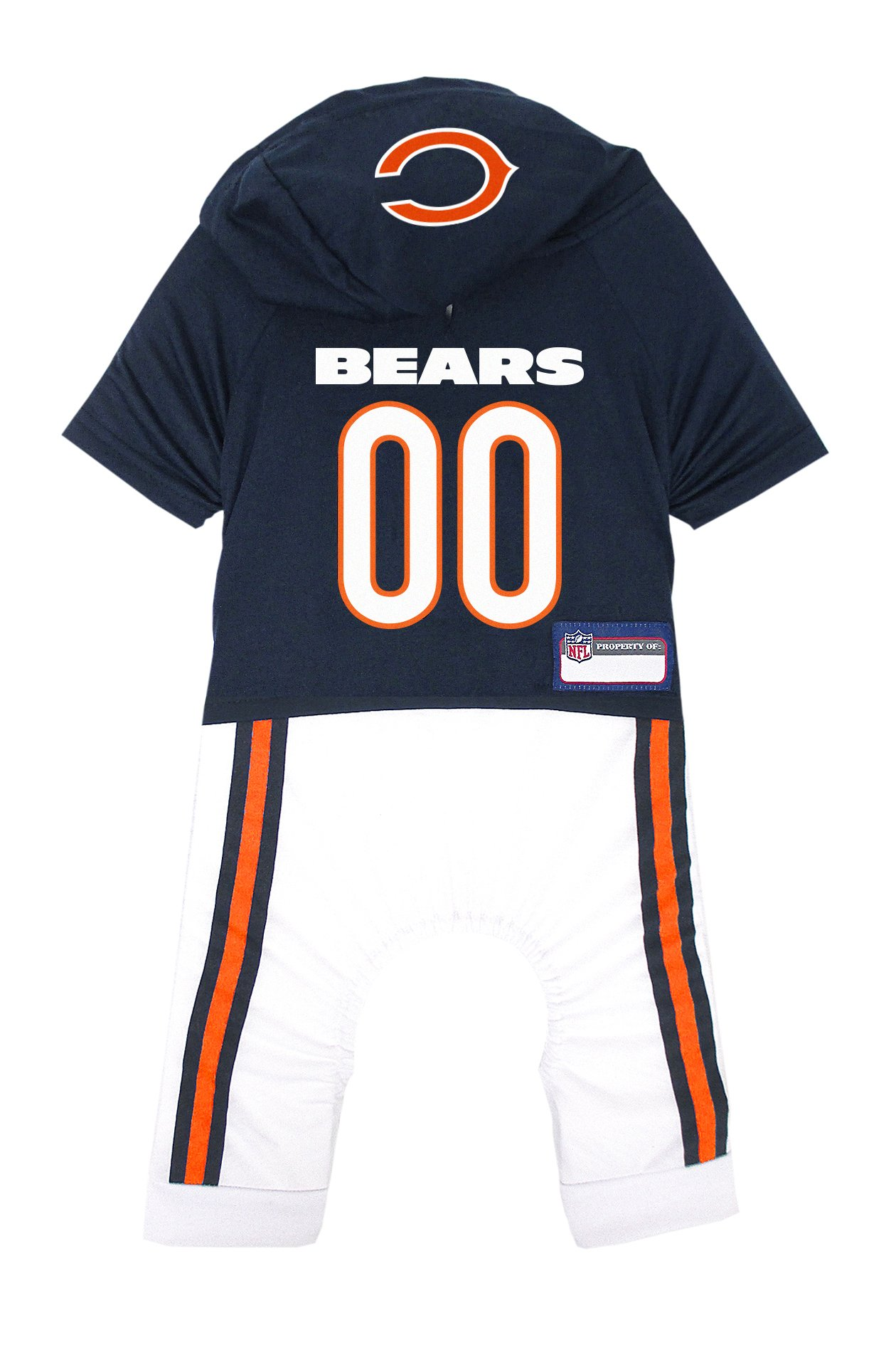 NFL Chicago Bears Pet Onesie, Size Large. Cutest Pet Outfit for Any Pet, Any Occasion! by Pets First