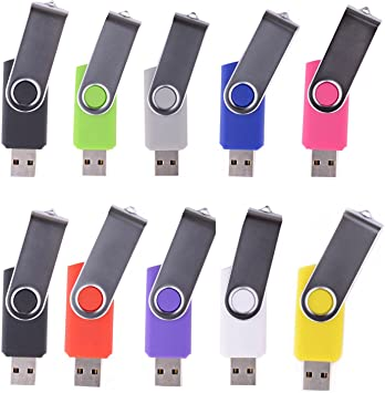 16GB Swivel USB Flash Drive USB 2.0 Memory Stick Bulk 5 Pack LHN/® Gray