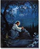 Jesus Christ Praying At Gethsemane Religious Christian Wall Picture 16x20 Art Print