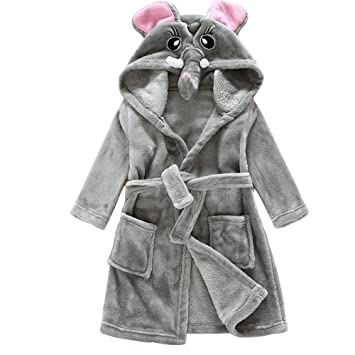 f71e15114 Amazon.com   UHBGT Flannel Baby Robes Coat
