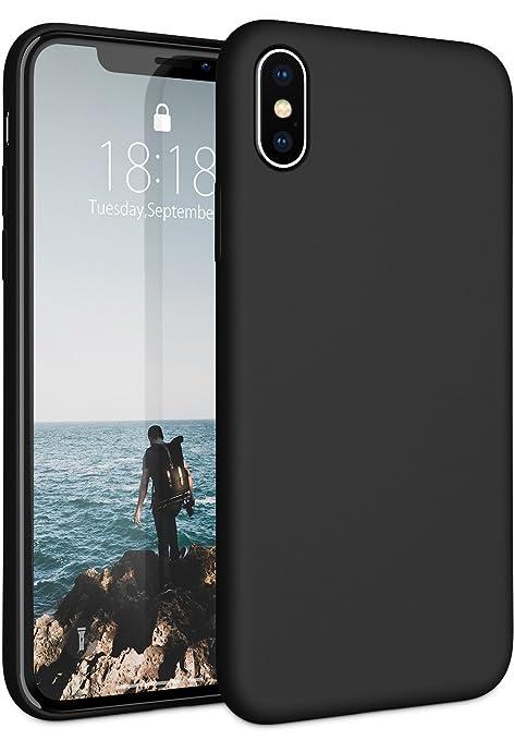 Fuleadture Funda iPhone X, Slim Líquido de Silicona Gel Carcasa Alta Calidad Anti-Rasguño y Resistente Huellas Dactilares Totalmente Protectora Caso ...