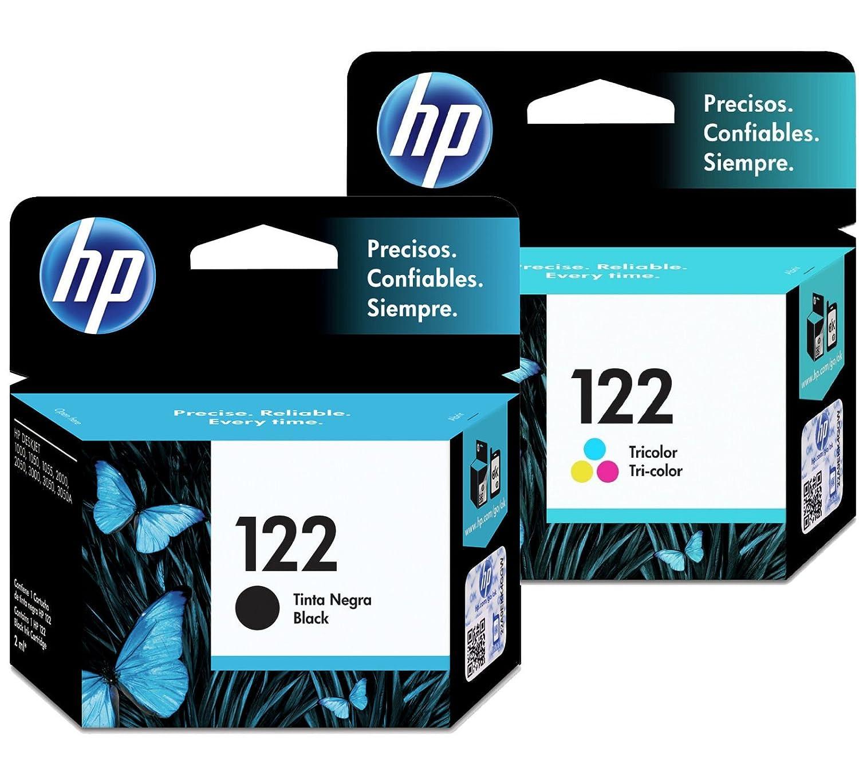 Amazon.com: HP 122 Cartuchos de tinta Combo (Negro + Tri ...