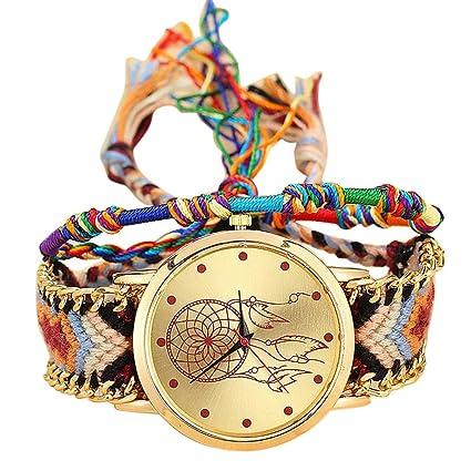Reloj mujer original ❤ Amlaiworld Moda Relojes niña Reloj de pulsera de cuarzo artesanal original