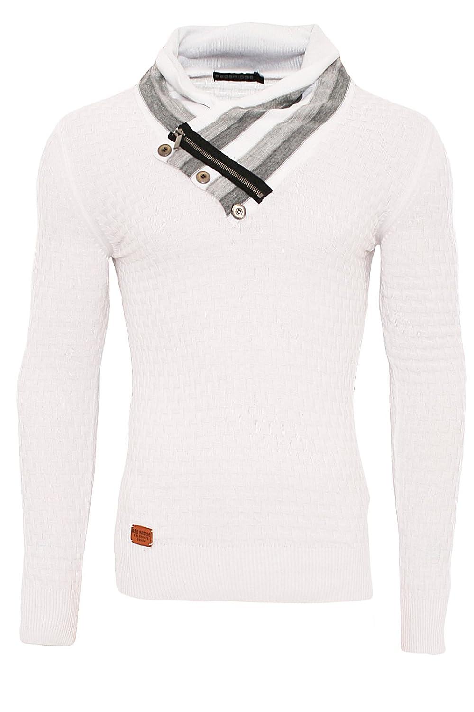 Redbridge Designer Herren Strickpullover hoher Kragen Norweger Pullover Men´s  R-41513: Amazon.de: Bekleidung