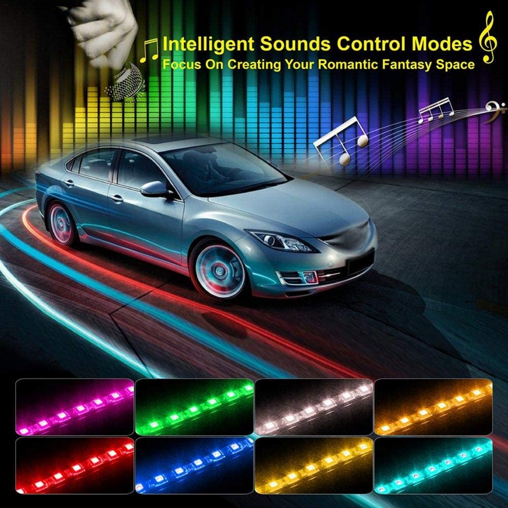 Car LED Strip Lights by APP Control Govee 36//48//72 Interior Music Sound-activate
