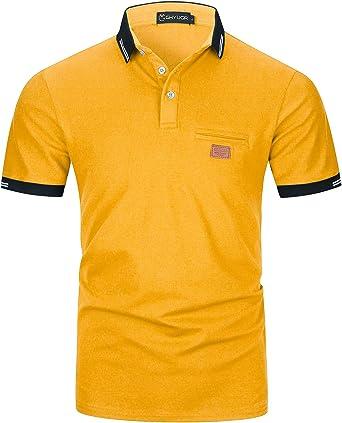 Camisa polo de hombres con costura | ROMWE
