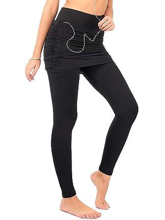da37790cea262c DEAR SPARKLE Skirted Leggings for Women | Yoga Tennis Golf Pants with  Gathered Skirt Pockets +