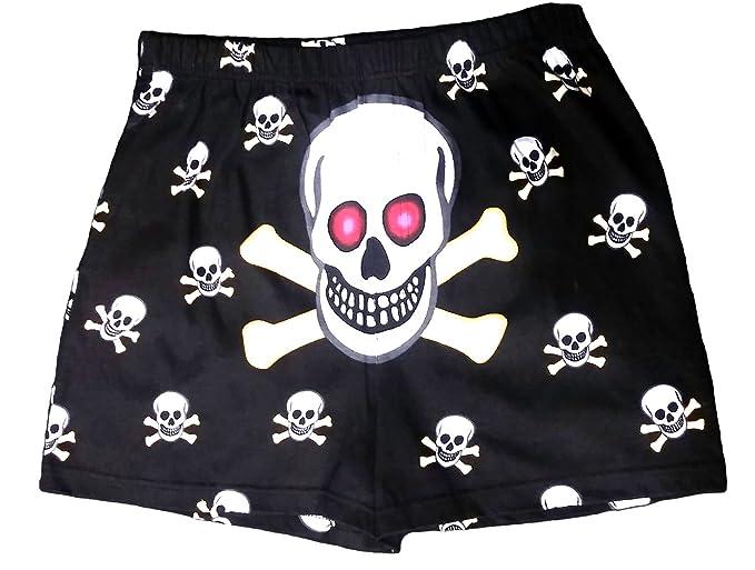 64e39df7f39 Amazon.com  Magic Men s Skull Boxers Black 1pair - Small  Clothing