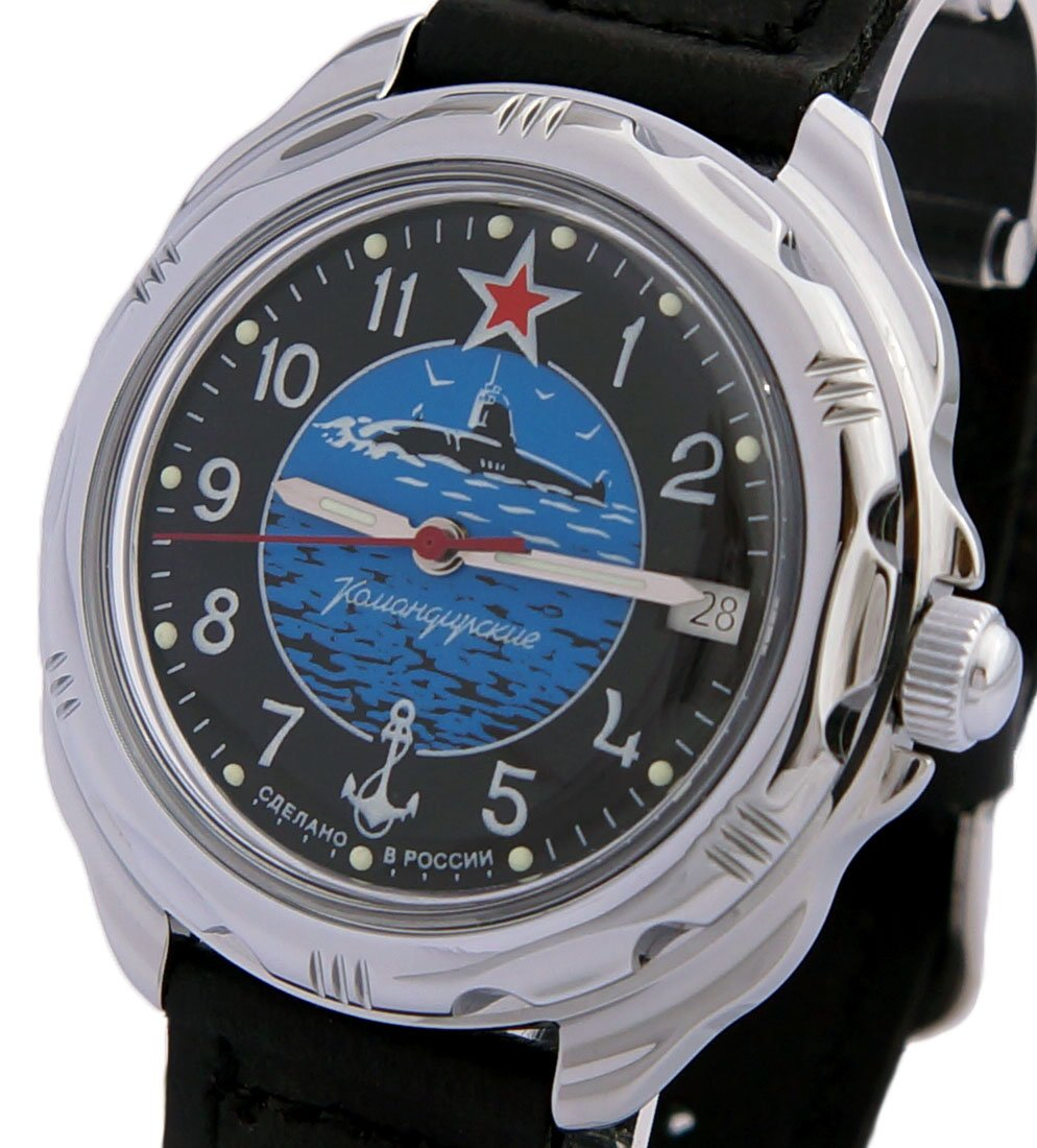 Vostok Komandirskie Military Russian Submarine Force U-Boot Commander Watch 2414 / 211163