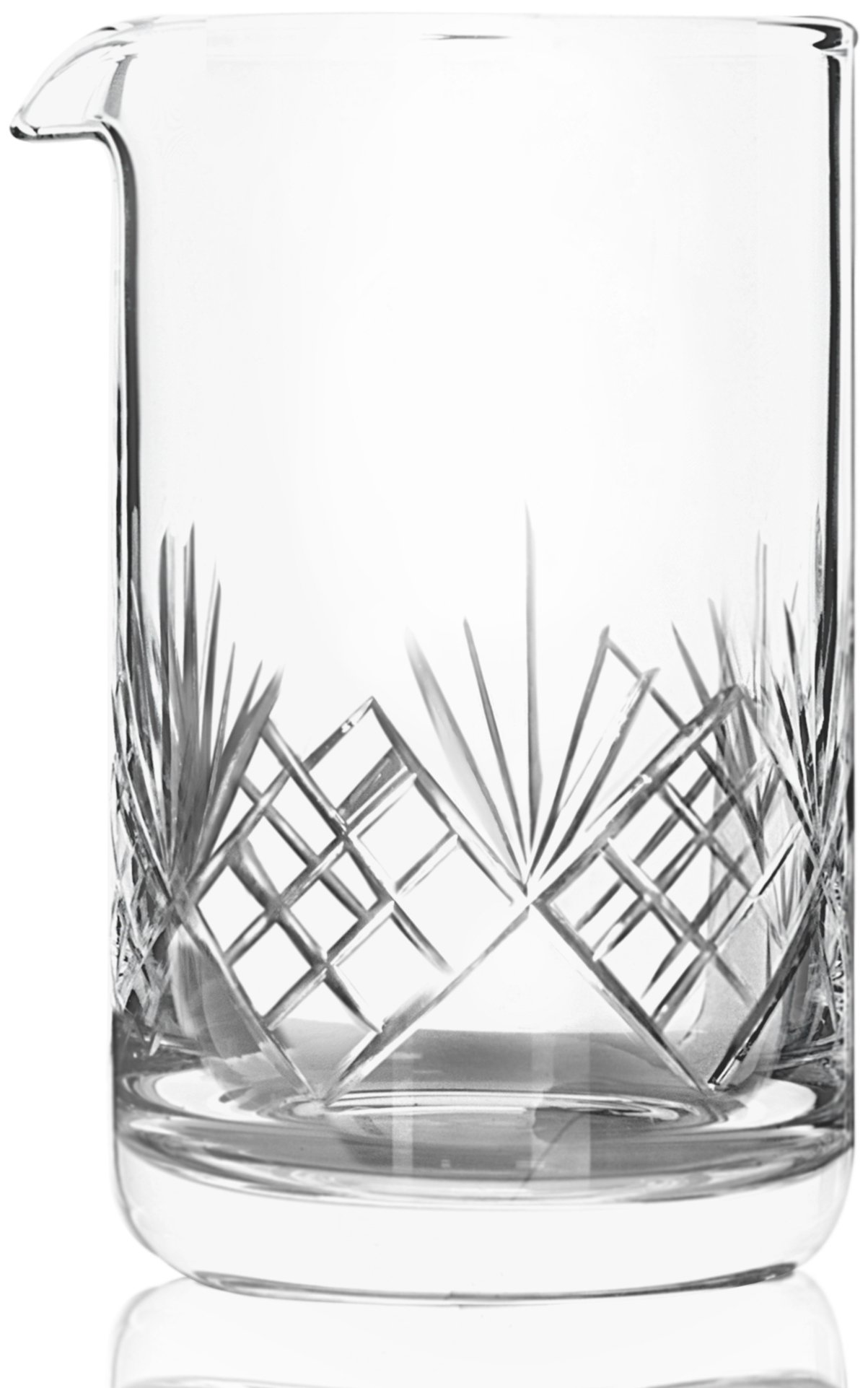 Crystal Cocktail Mixing Glass - Thick Weighted Bottom - 18oz (550ml) - Premium Seamless Design - Professional Quality - Great Gift Idea