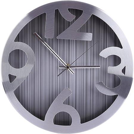 Foxom Horloge Murale 12 Pouces Pendule Murale Silencieuse En