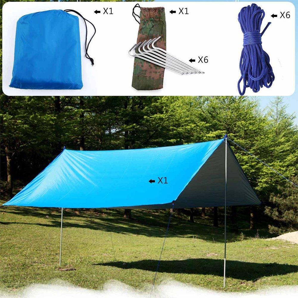 Camping Sonnendach Outdoor Markise f/ür Camping Garten Terasse Strand Wasserfest /& Robust GDRAVEN 210T Tarp Sonnensegel Sonnenschutz 90/% UV Schutz Sonnenschirm Regenschutz