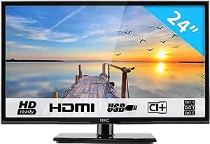 "HKC 24C2NB 24"" (60.50cm) LED TV (FHD 1920x1080, TRIPLE TUNER, DVB-T/T2/C/S/S2, H.265 HEVC, CI+, Mediaplayer via USB [Energy Class A]: Amazon.es: Electrónica"