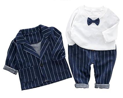 c5f8959c84f55 C-Princess ベビー服 スーツ ジャケット シャツ ズボン 3点セット 蝶ネクタイ タキシード 紳士服