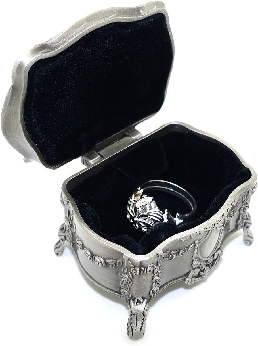De el Señor de los anillos anillo de Galadriel, agua de elfo con caja de joyería, anillo joyas para mujeres, niñas plata 7: Amazon.es: Juguetes y juegos