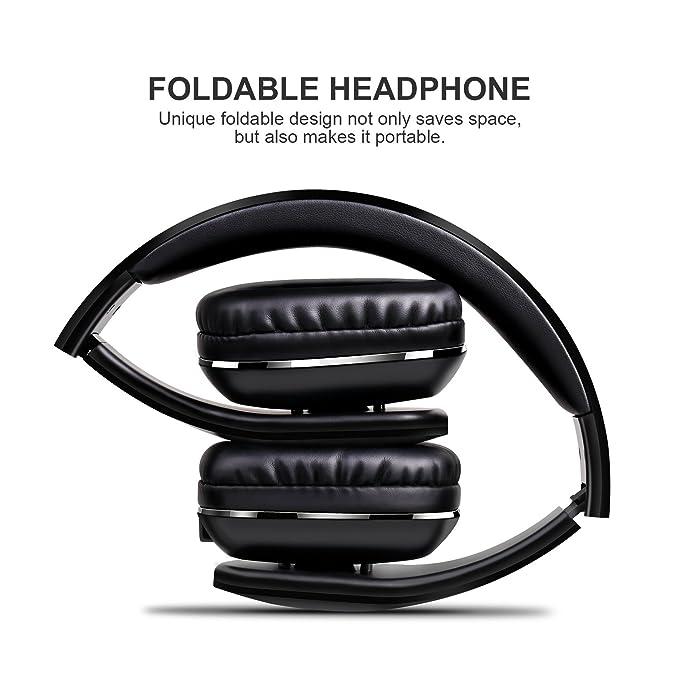 Auriculares inalámbricos de diadema, ligera plegable auriculares Mixcder MSH101 Bluetooth 4.1 con Micrófono Sonido Estéreo para teléfonos móviles para ...