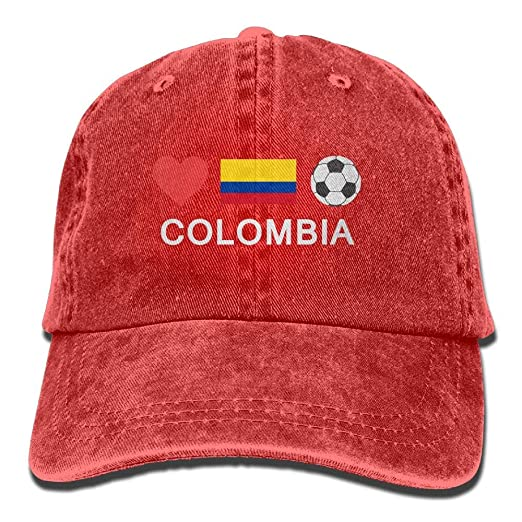 Amazon.com  willeing Unisex Baseball Cap Hat Colombia Football ... af70cd37a26
