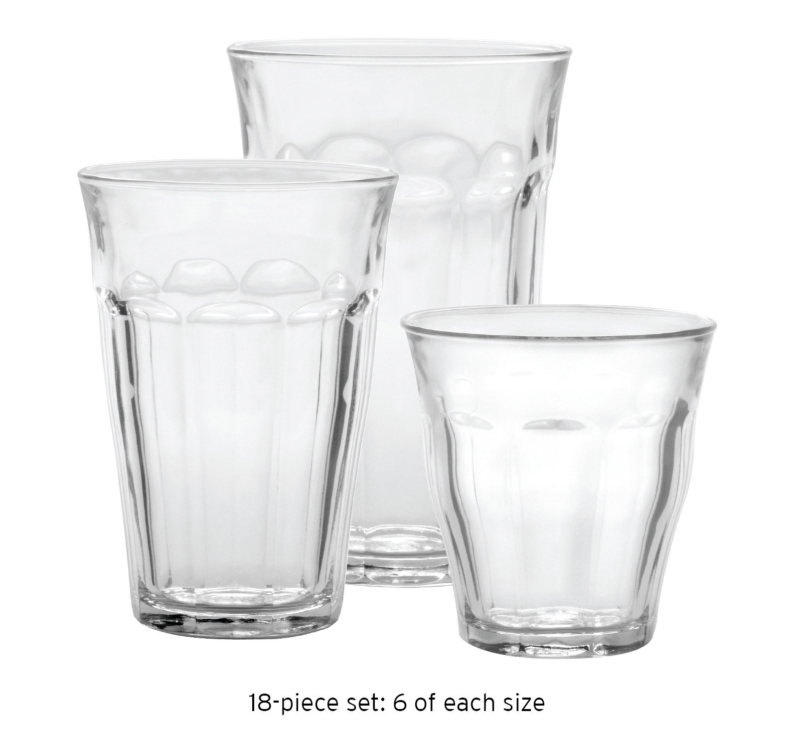 Duralex Picardie Glass Tumblers French Bistro 18Pc Set by Duralex (Image #1)