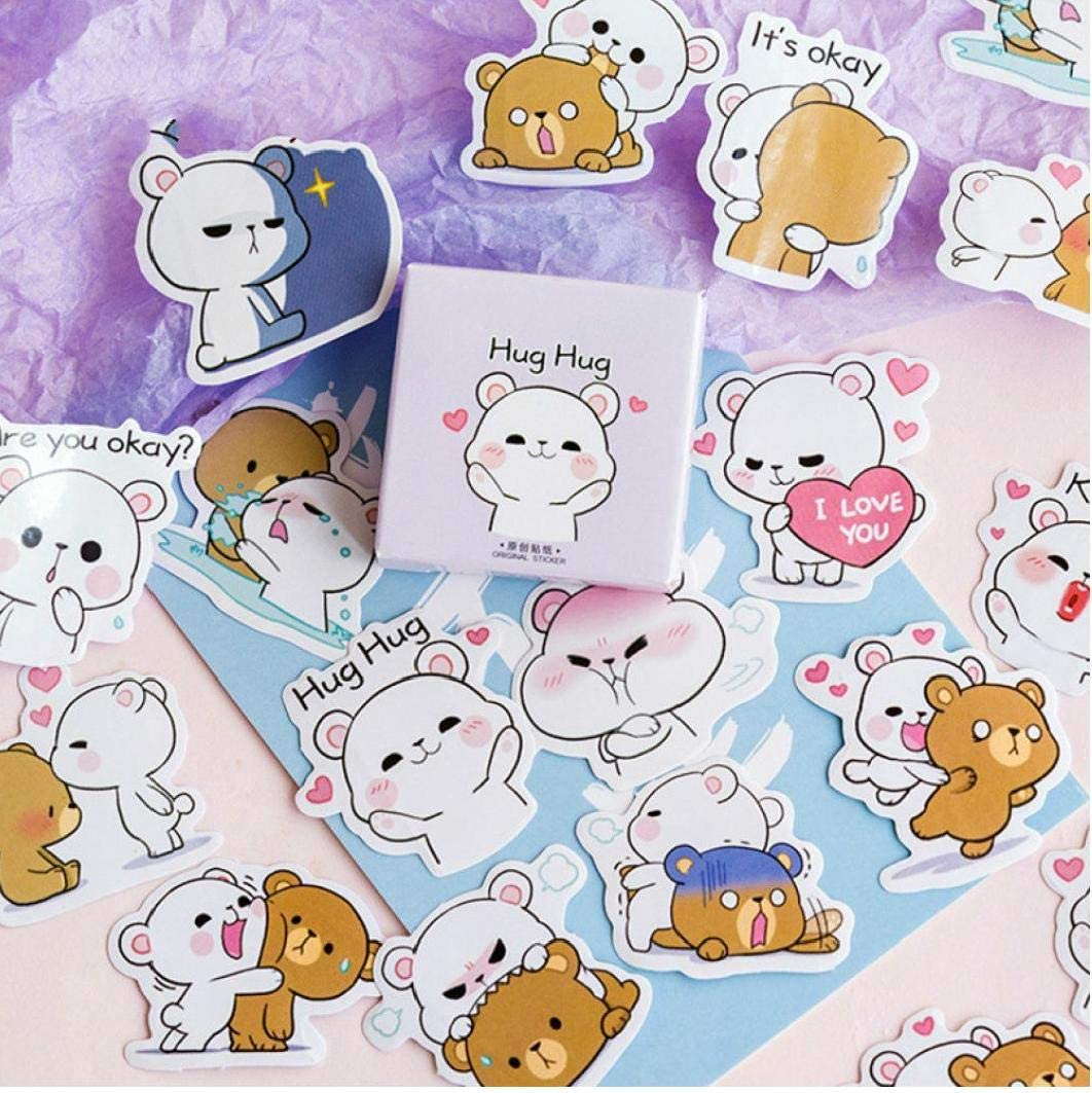 Hug Bear Stickers Scrapbooking Album Diary Label Decals Stationery Supplies