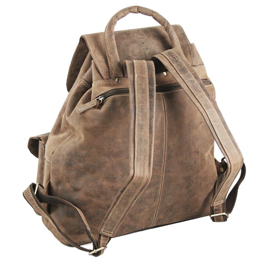 00746a53cb32d Greenburry Vintage Rucksack Leder 40 cm (sattelbraun)  Textilien    Amazon.de  Sport   Freizeit