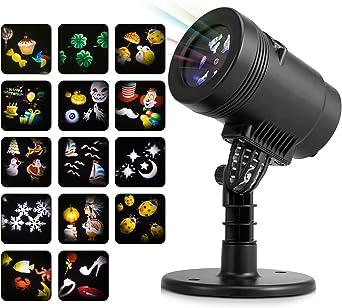 HanLuckyStars Lámpara de Proyector LED 14 Reemplazables Dibujos ...