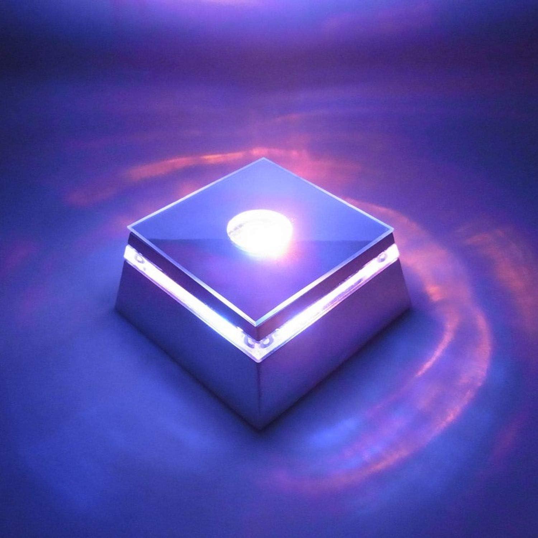 LED Sockel f/ür 3D Glasfiguren Untersetzer mit Farbwechsler mit 3-LEDs