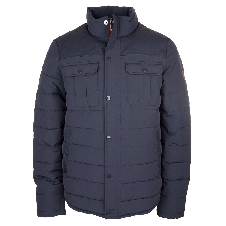 Vintage-Industries Men's Quilted Jacket Blue Navy