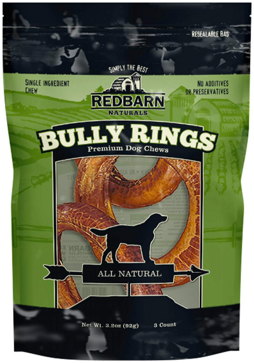 3Pk – Redbarn Bully Rings, Net Wt 3.2 Oz