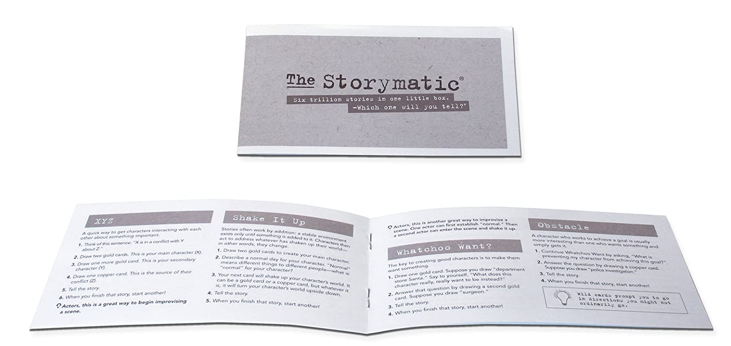 540 Unique Cards Includes Booklet with Prompts Made in USA The Storymatic Corp Make Art Games The Storymatic Classic Tell Stories Play Games and More STO-001 and Activities