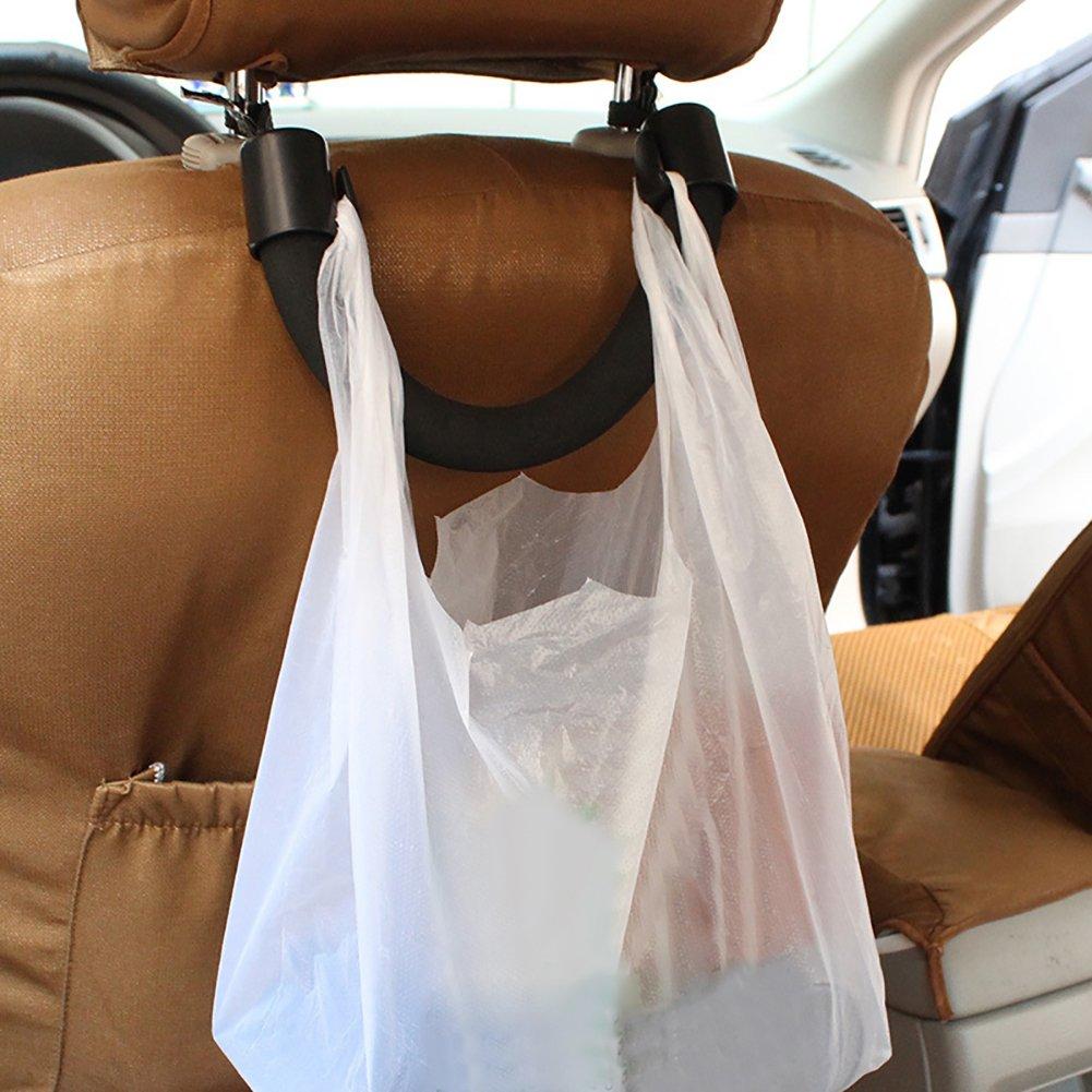 Auto Auto Sedile Posteriore poggiatesta Gancio Maniglia di Sicurezza per Borsa Bag Alimentari-Nero Steellwingsf Sedile Posteriore Maniglia