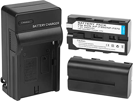 Rapid Dual LCD Battery Charger Compatible Sony CCD-TRV215 TR917 TR315 HDR-FX1000 HDR-FX7 HVR-V1U Z7U Z5U Camera as NP-F730 NP-F770 with Type-C and Micro-USB Port DSTE Replacement for 2X NP-F750