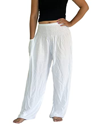 Image result for Orient Trail Women's Smocked Waist Tribal Elephant Yoga Harem Pants US Size 6-22 | The Best Bump-Friendly Amazon Finds featured Alabama blogger My Life Well Loved #maternity #pregnancy