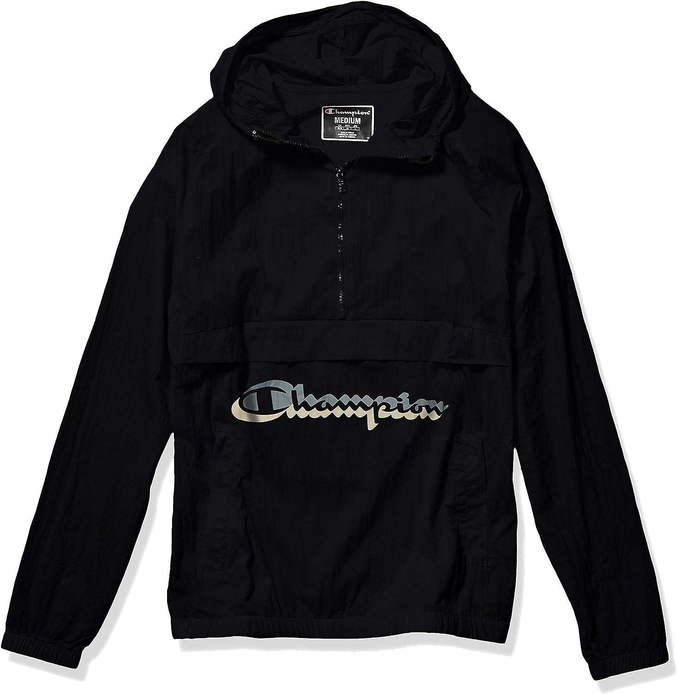 Champion LIFE mens Anorak Windbreaker: Clothing