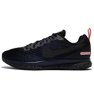 new product 501bb 1c6b2 Nike Men's Air Zoom Pegasus 34 Shield Running Shoe  Black/Black-Black-Obsidian 15.0