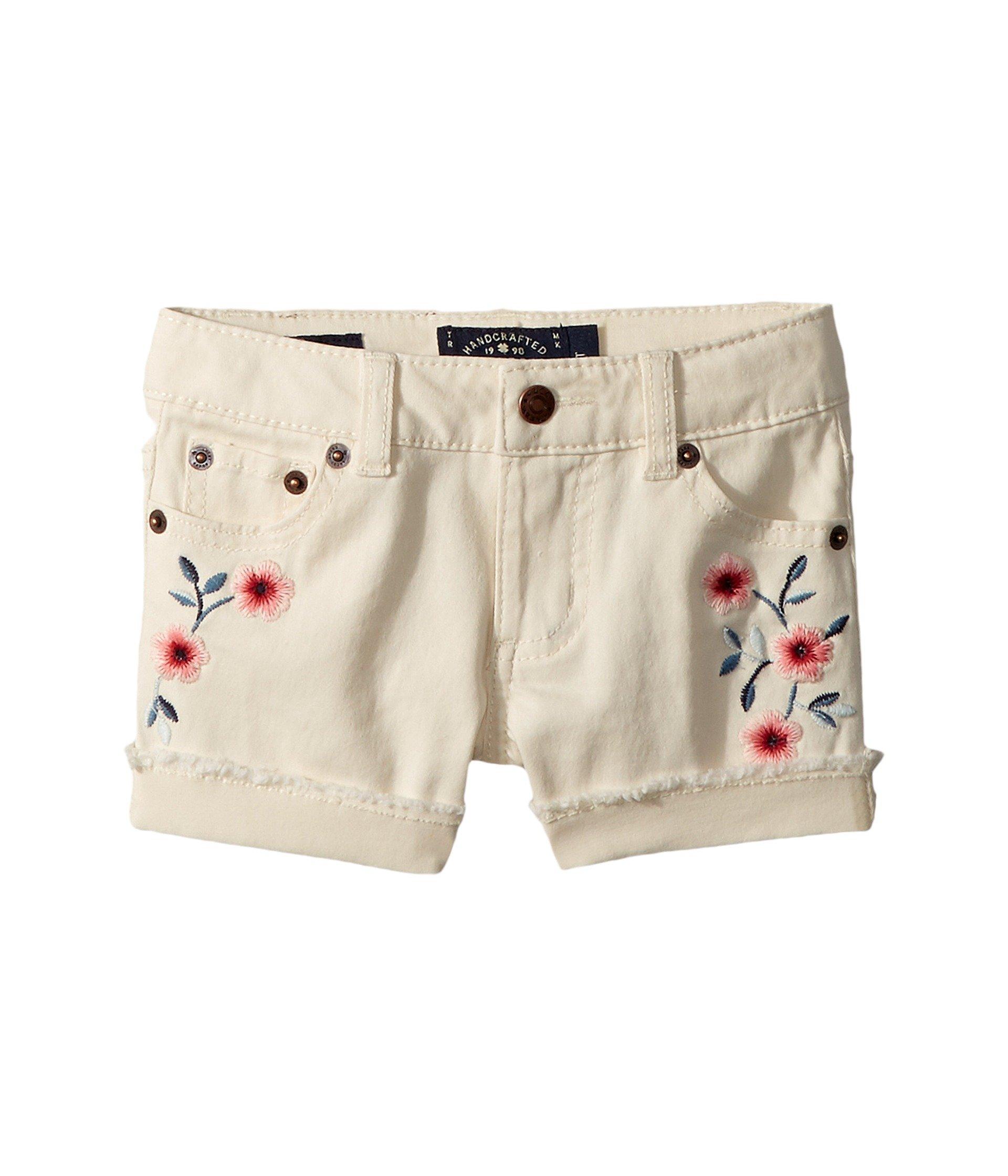 Lucky Brand Kids Baby Girl's Bobbi Denim Shorts in Natural (Toddler) Natural 3T