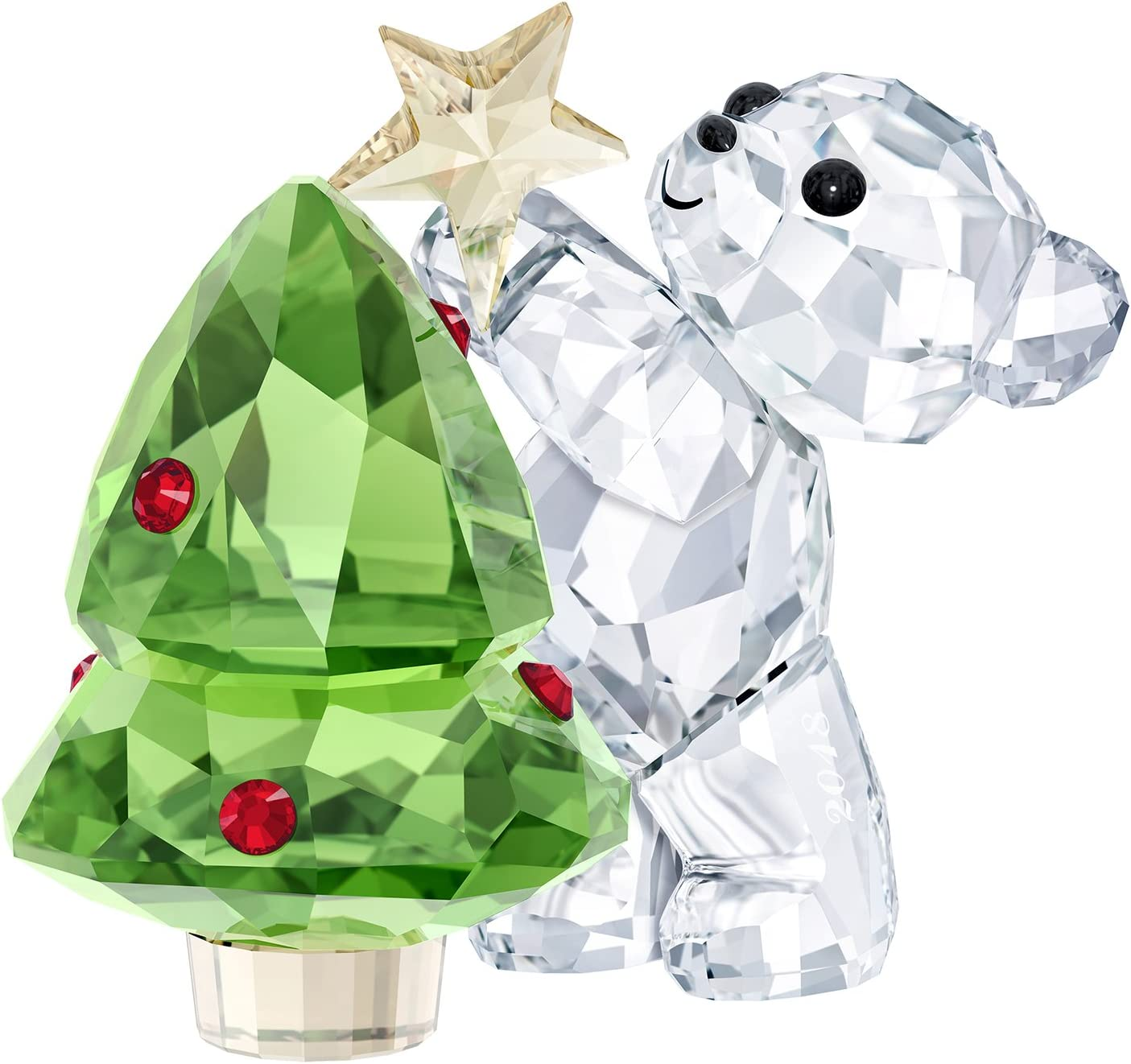 Swarovski Kris Bear – Christmas, A.E. 2018, Crystal, Multicoloured, 4.4 x 4.9 x 3.1 cm,