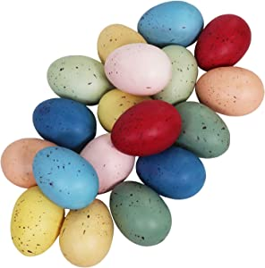 18 pcs 9 Colors Foam Easter Eggs Speckled Eggs Decorations Pastel Speckled Eggs Decorative Easter Eggs for Farmhouse Easter Spring Party Favors Basket Fillers Seasonal Table Setting