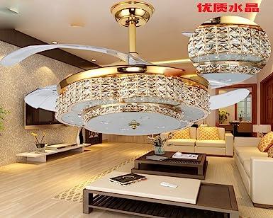 Dormitorio moderno techo, luces LED de ventilador invisibles ...