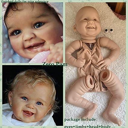 22/'/'Handmade DIY Reborn Silicone Head Limb Mold Blank Baby Kid Doll Gifts Kits