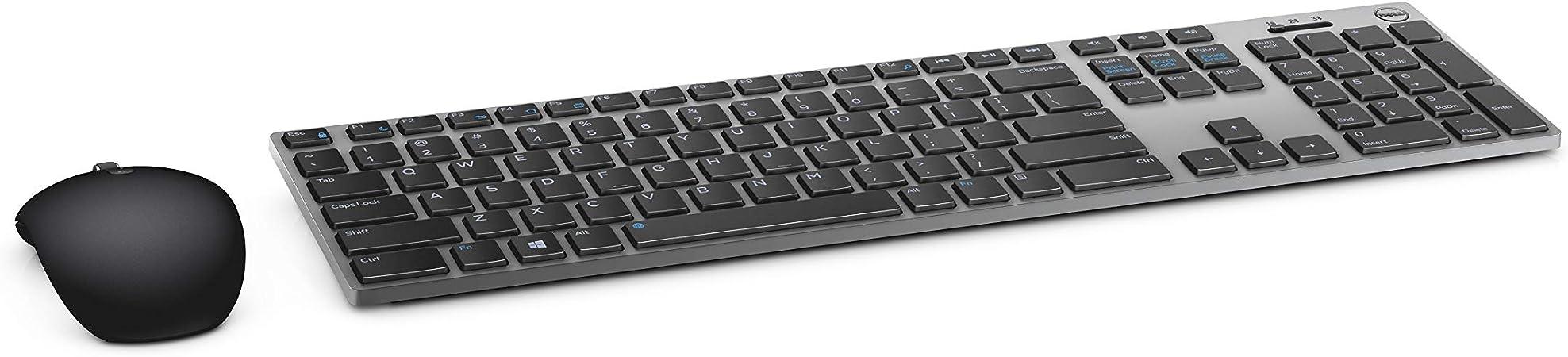 Dell KM7321W, inalámbrico, Premier, Teclado y ratón, alemán (QWERTZ), Color Negro