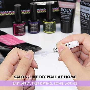 Nail Glue for Acrylic Nails - 8 Pcs BTArtbox Adhesive Super Bond for Fake Nails Tips Long Lasting, 0.07 oz