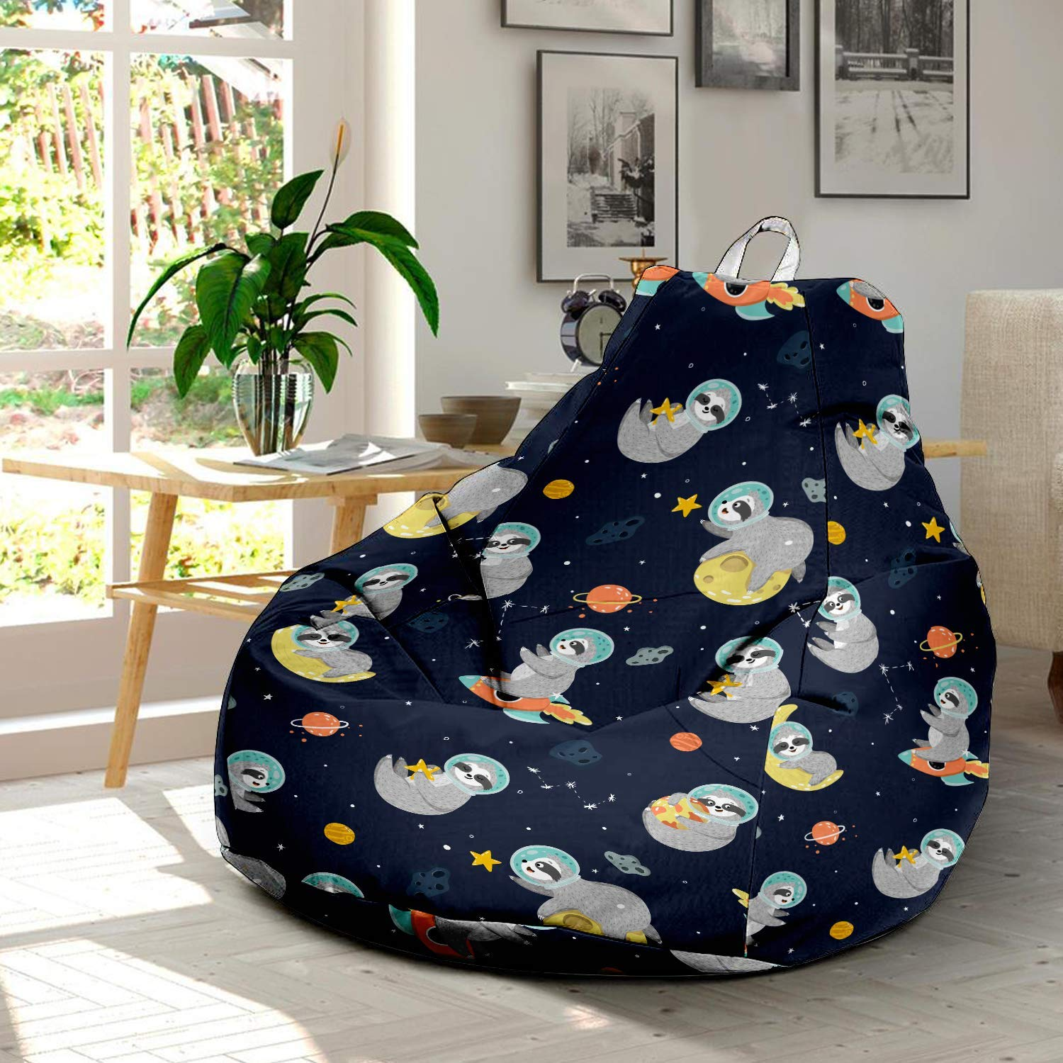 Swell Amazon Com Sloth Ultra Soft Bean Bags Chairs Beanless Bag Dailytribune Chair Design For Home Dailytribuneorg