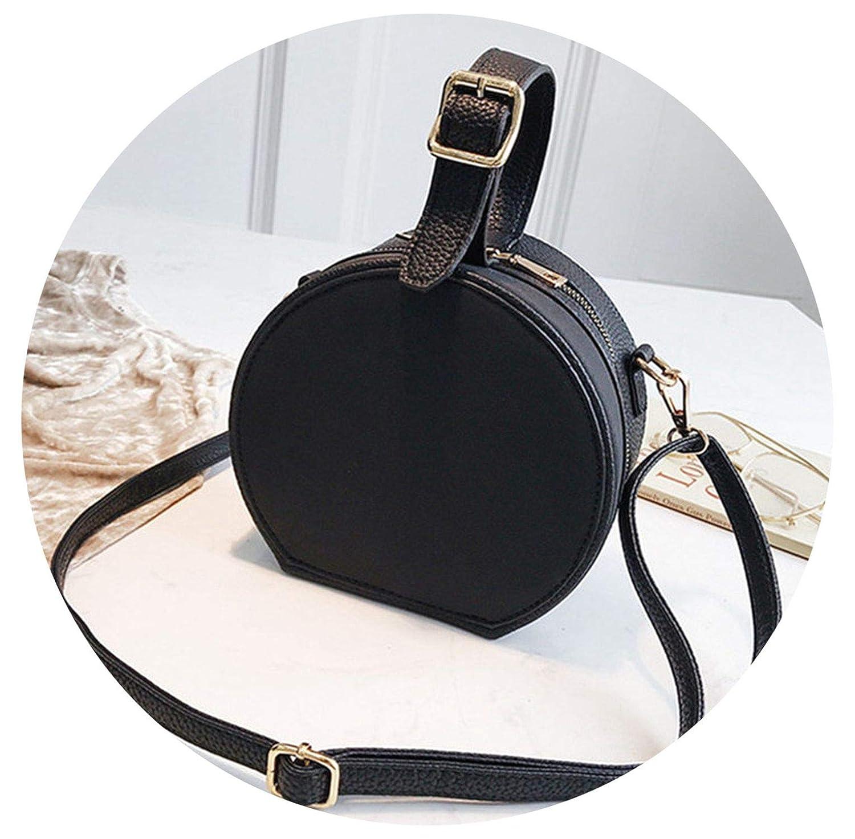 on Leather Messenger Bags ies Purse Fe Round Bolsa Handbag ...